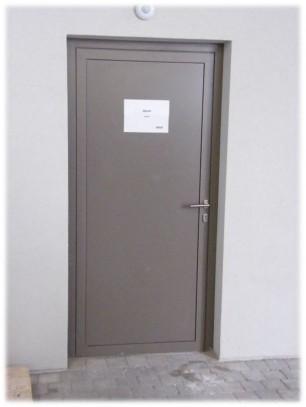 Plechové dveře zateplené